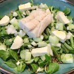Linzen salade met kabeljauw