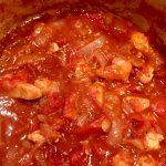 Kipfilet in tomaten saus